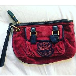 Juicy Couture burgundy clutch *preowned*